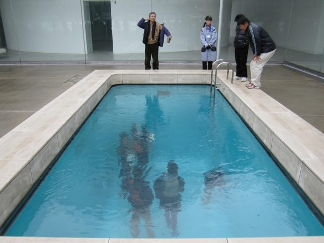 Drawing Swimming Pools : Walk on water interactive aquatic art installations