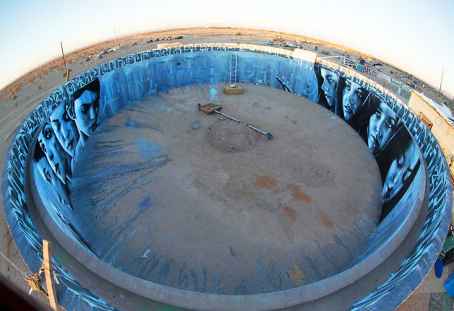 abandoned art water tank