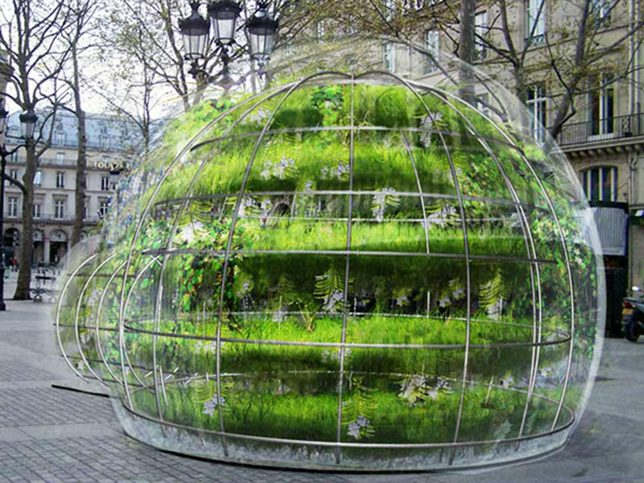 bubble buildings garden paris 1