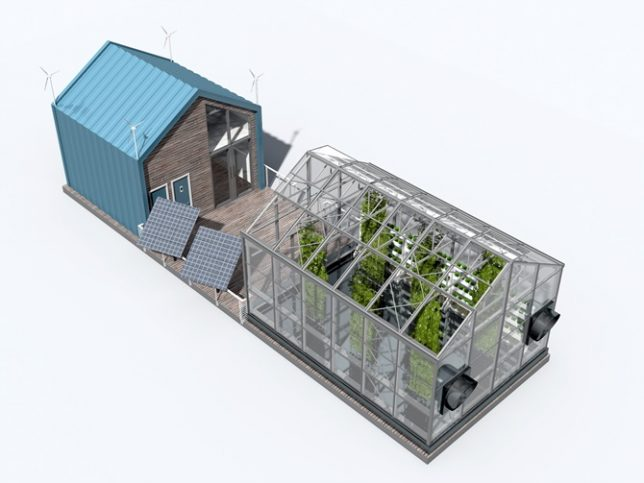floating greenhouse model