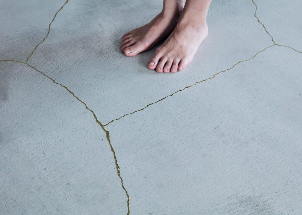 clear crack filler concrete