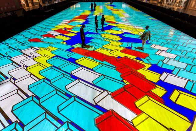 interactive carpet art