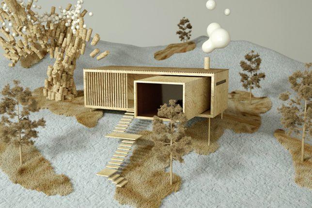 nordic modernism hillside home