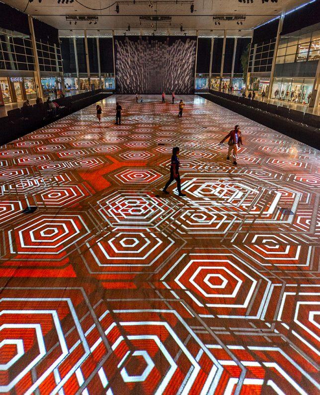 responsive carpet projection
