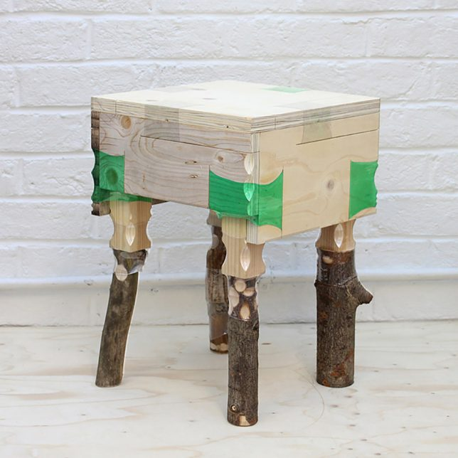 wood joined furniture table