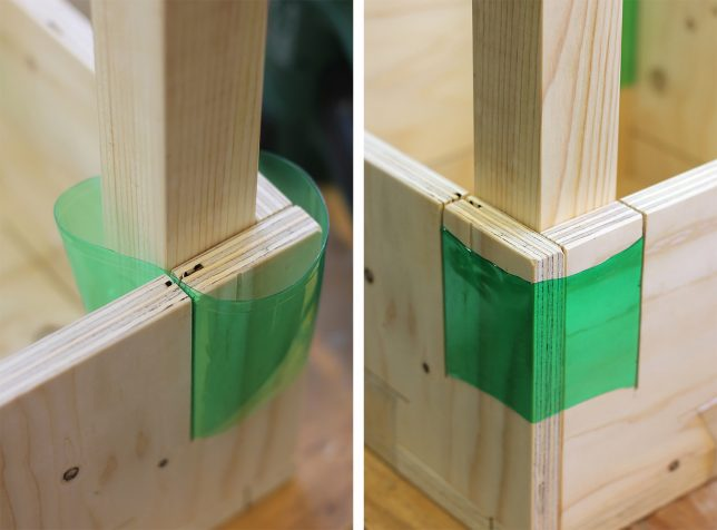 Junk Joinery Heated Plastic Scraps Connect Notched Wooden