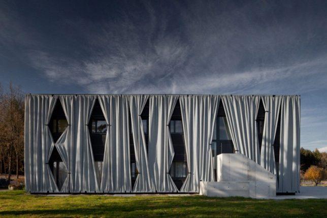wrap facade curtain house 4
