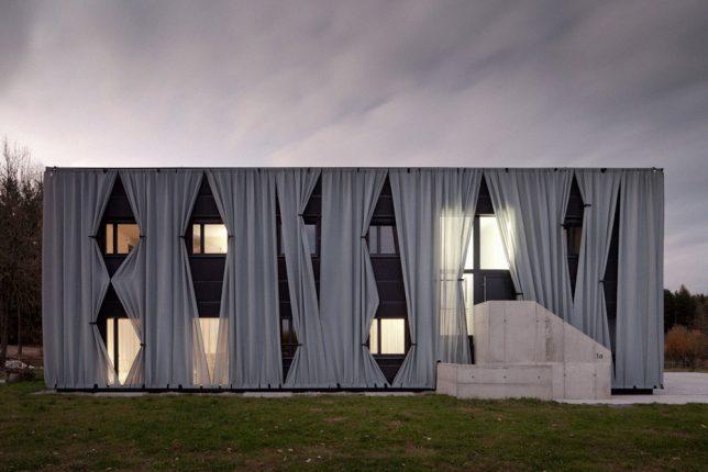 wrap facade curtains