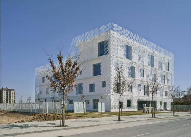 wrap facade perforated