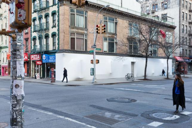 wrap facade storefront