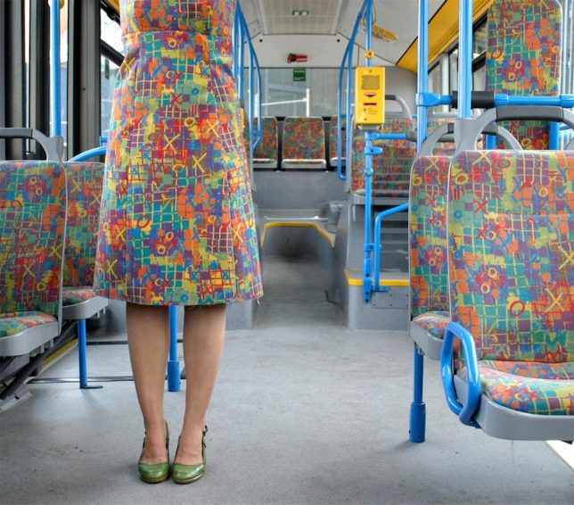 fabric matching transit dress