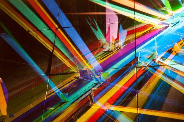 light art glass detail