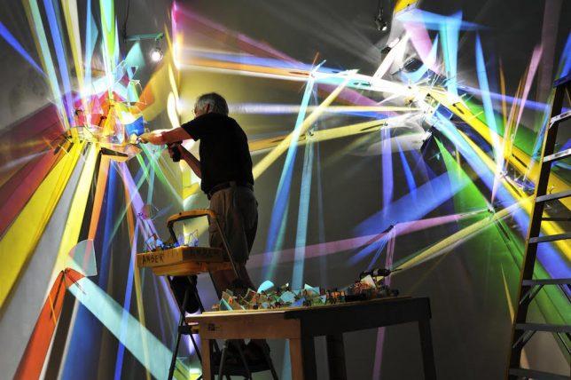 light art making