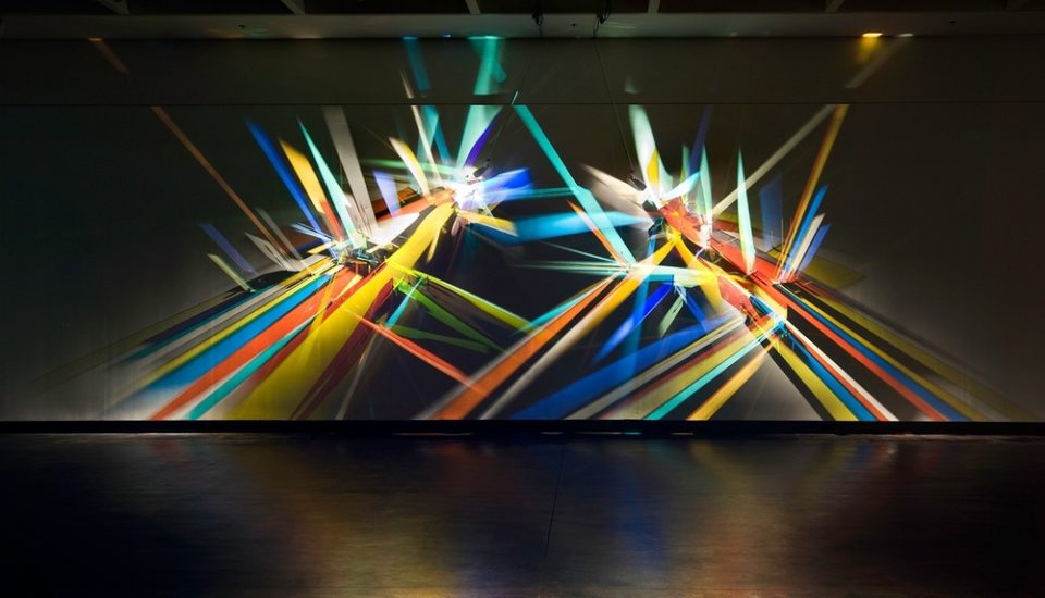 Prismatic graffiti bending light into a spectrum of wall murals light wall art mozeypictures Image collections