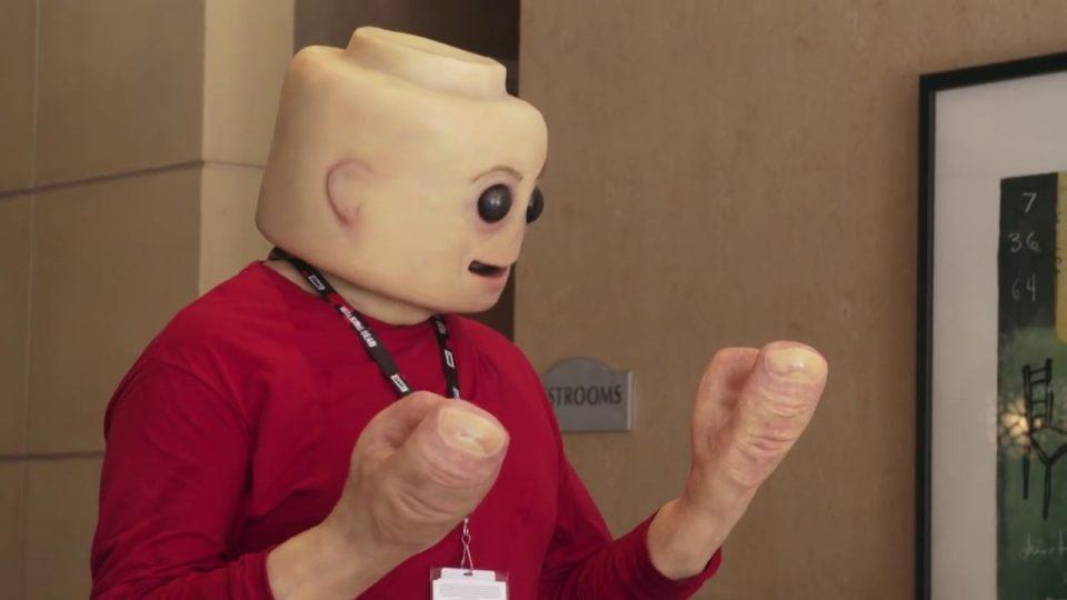 Real Life LEGO Man: Fleshy Mini-Figure Cosplay Will Freak