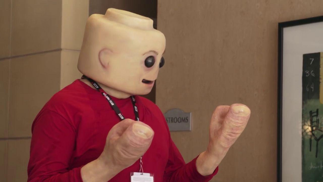 Real Life Lego Man Fleshy Mini Figure Cosplay Will Freak