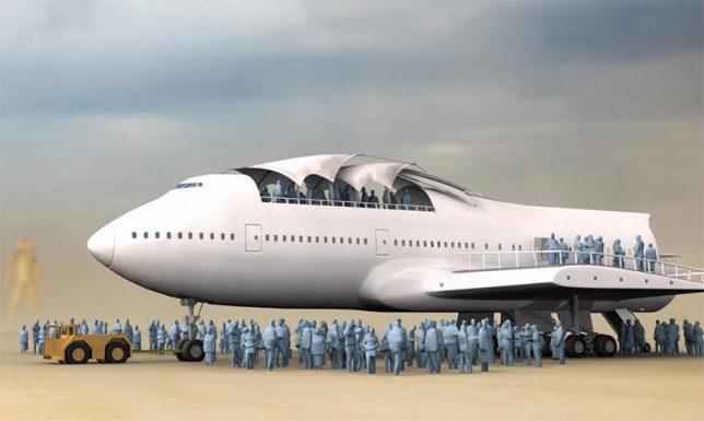 747 art car huge