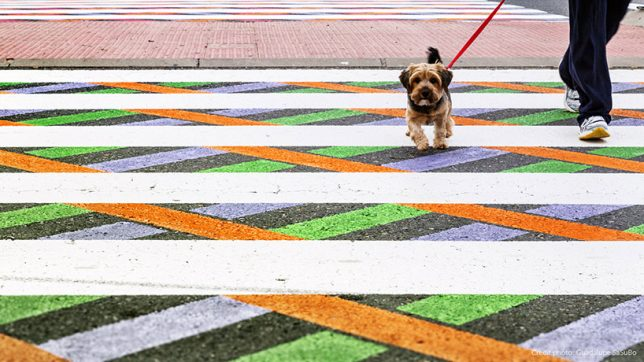 colorful creatie sidewalk crossings