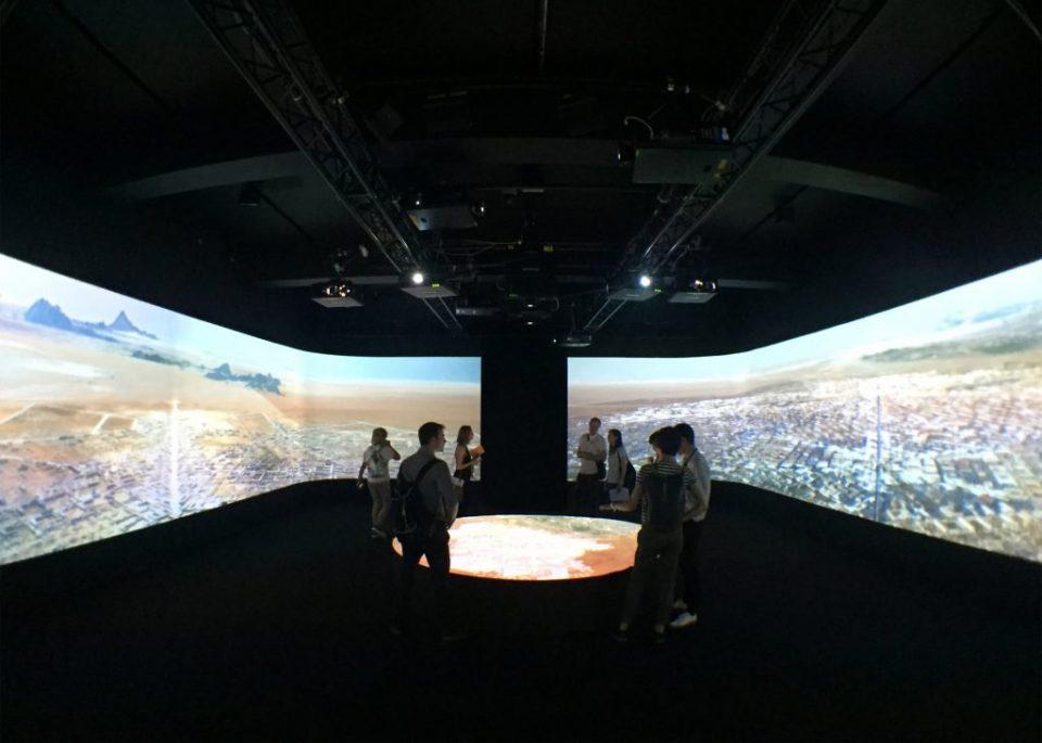 futuristic border city