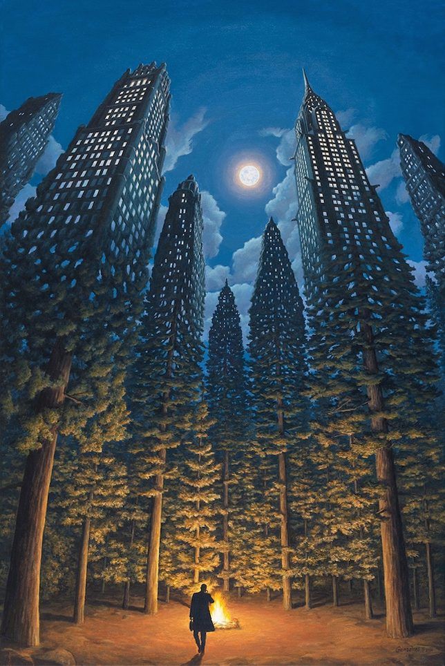 night-skyscraper-trees