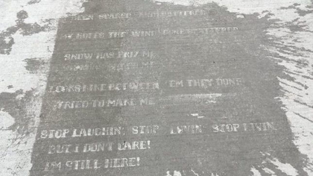 sidewalk poem