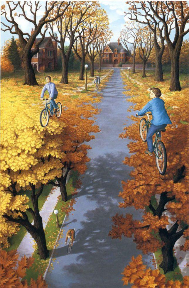 trees-biking