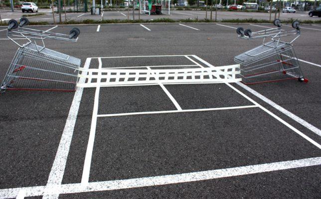 urban hacking shopping cart tennis