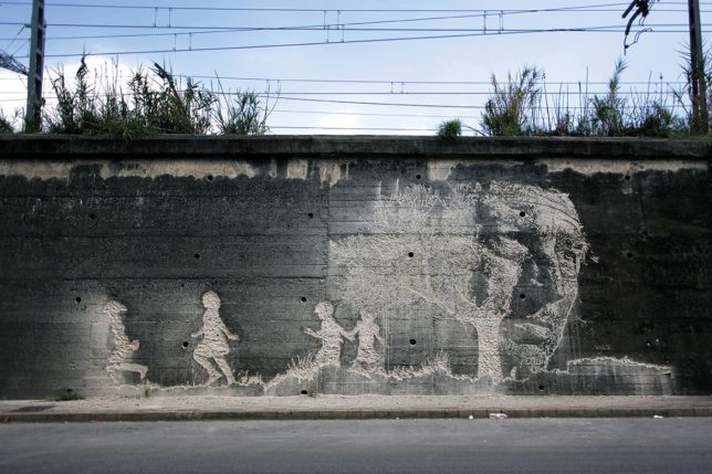 vhils scratched mural 9