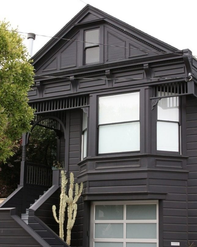 Paint it black 16 mysterious houses that have joined the for San francisco victorian houses