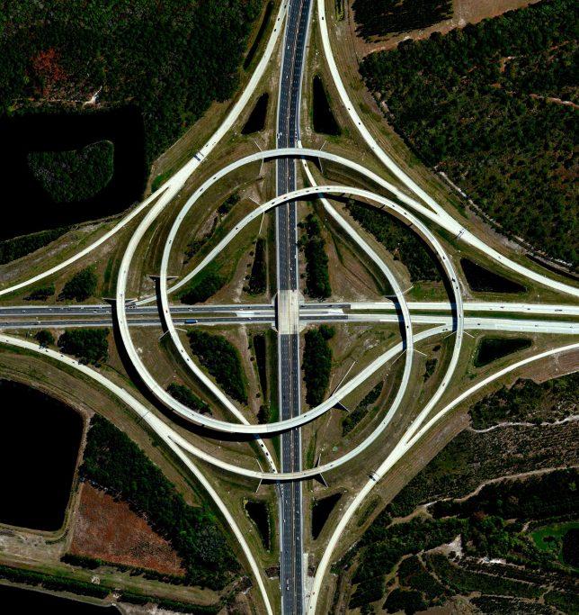 A highway interchange in Jacksonville, FL