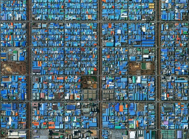 Industrial district, Ansan, South Korea