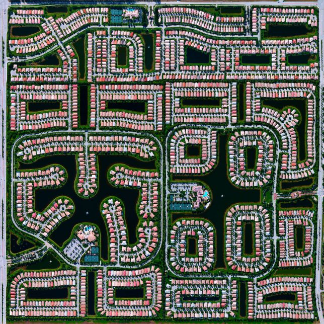 Residential neighborhood in Delray Beach, FL