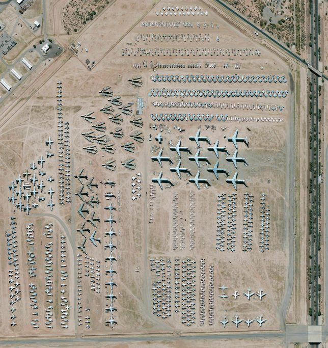 World's largest aircraft storage facility, Tucson, Arizona