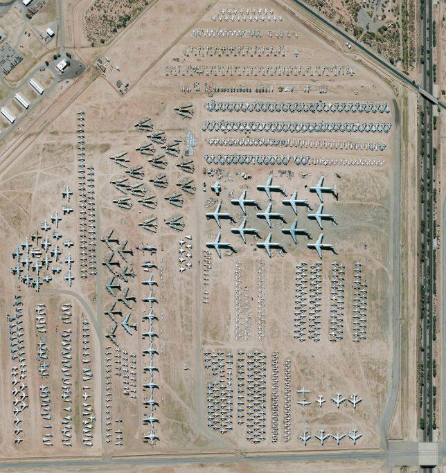 World's largest aircraft storage facility, Tucson, Arizona