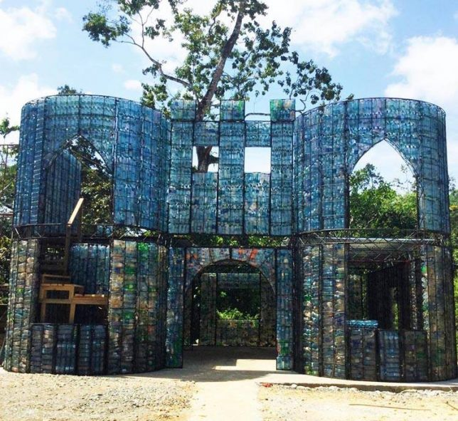 plastic-bottle-castle