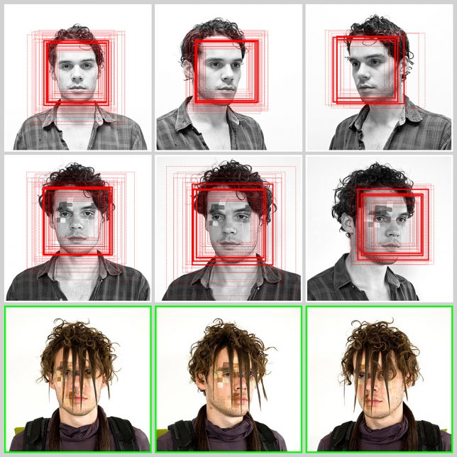 Obscuring facial recognition safe
