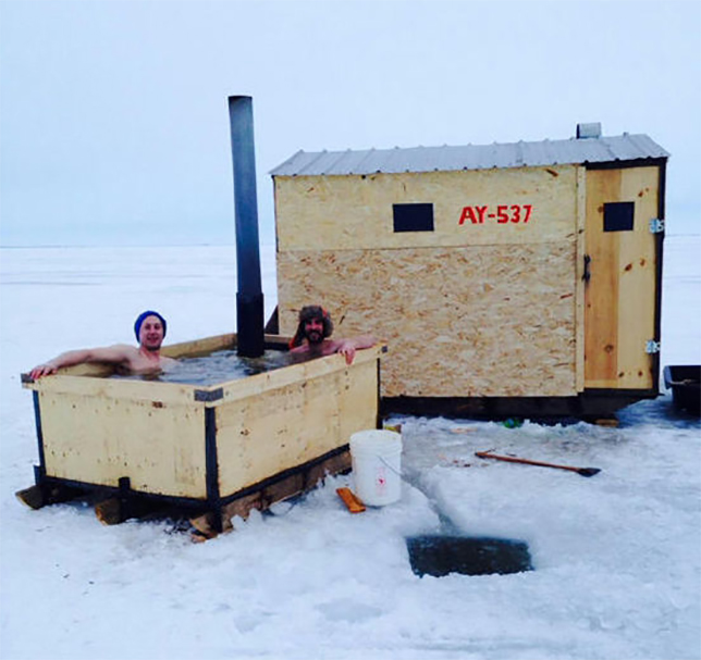 Angling For Warmth In Winter 21 Ice Fishing Hut Designs