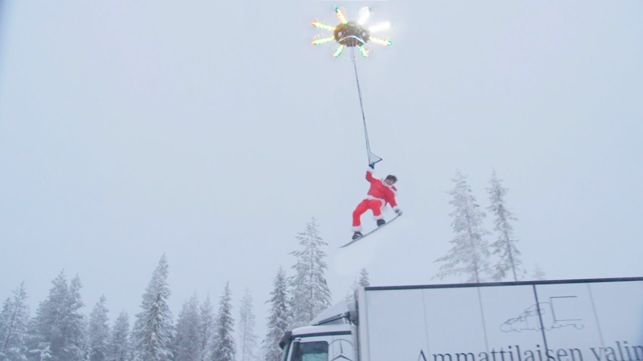 Daredevil Santa Human Flying Drone Enables Sky High