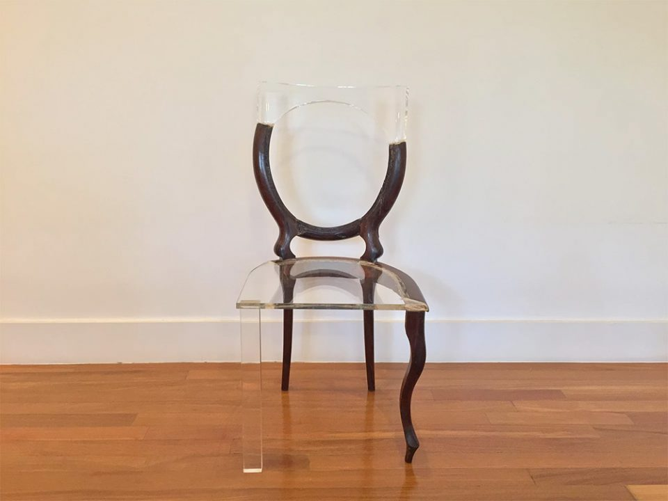 Invisible Repairs: Artist Fixes Broken Wood Furniture Using Clear Infill