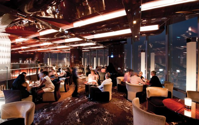 High Elevation Dining 12 Sky Scraping Restaurants Around  : atmosphere dubai 2 644x403 from weburbanist.com size 644 x 403 jpeg 66kB
