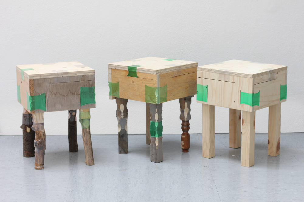 Recycling Genius Shrunken Plastic Bottles Replace Furniture Joints