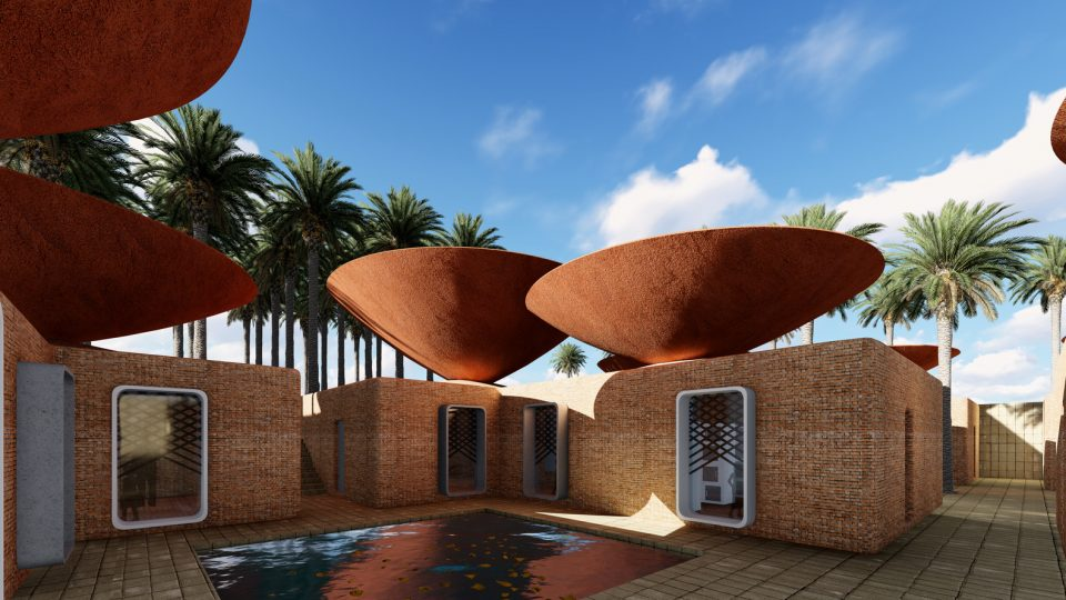Inverted Roofs: Bowl-Shaped Rain Collectors Naturally Cool Desert ...