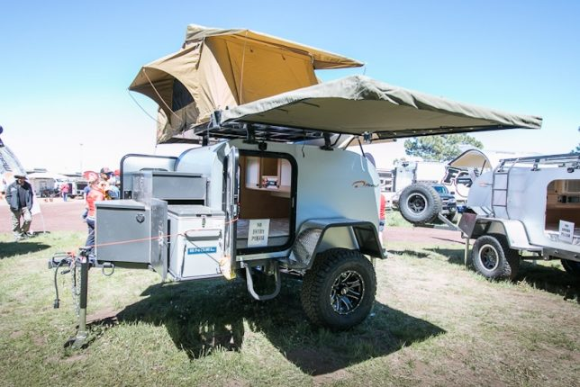 The Moby1 XTR Is A More Rugged Update On Classic Teardrop Trailer Offering Running Water Solar Panels Oversized Wheels And Frame