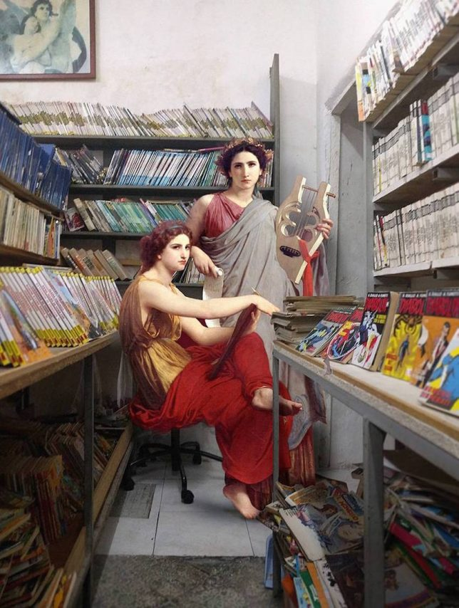 classical paintings modern photos 1