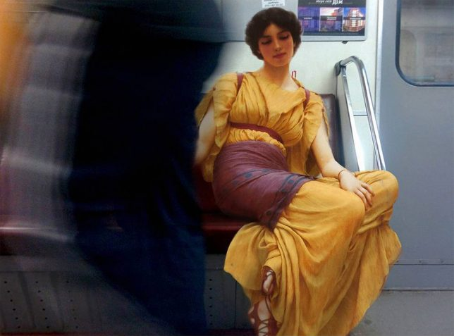 classical paintings modern photos 2