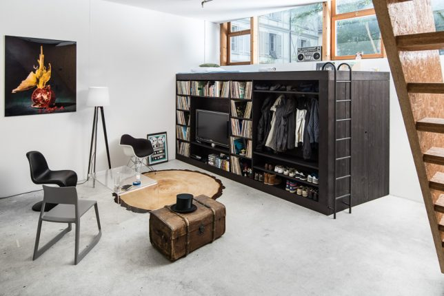 Modular Living inner space: 14 modular all-in-one living cubes to organize
