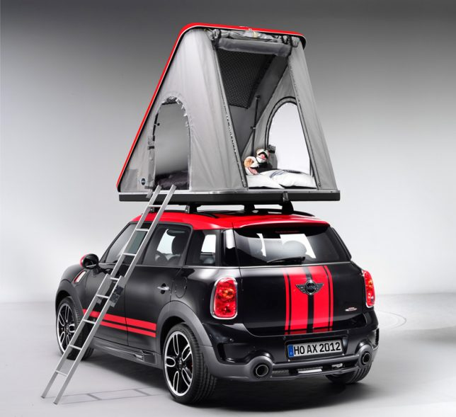 On the other end of the ruggedness spectrum is this cute rooftop tent design that mounts onto the roof of the BMW MINI. The Swindon Rooftop Tent mounts to ... & Pop-Up Car Tents: These 15 Rooftop Campers Are Like Portable Tree ...
