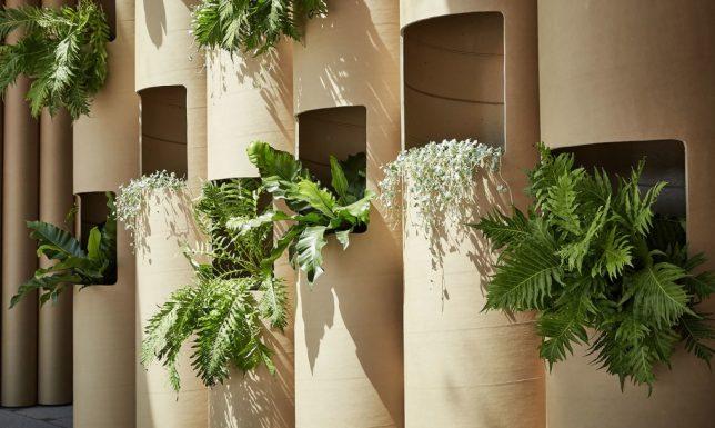 recycled cardboard tube garden 2