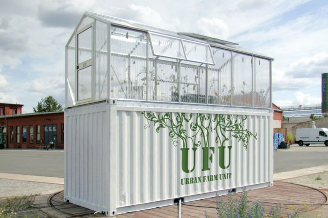shipping container greenhouse