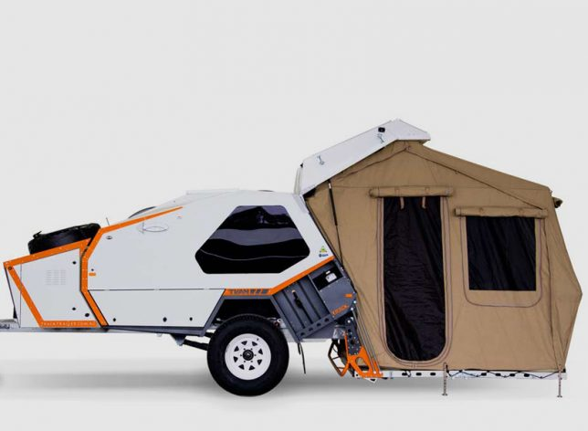 Its Aerodynamic Compact Shape Makes It Easy To Tow Off Road And Includes A Quick Erect Tent Stored In Own